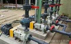 耐酸防腐泵的进出口管路的安装注意事项